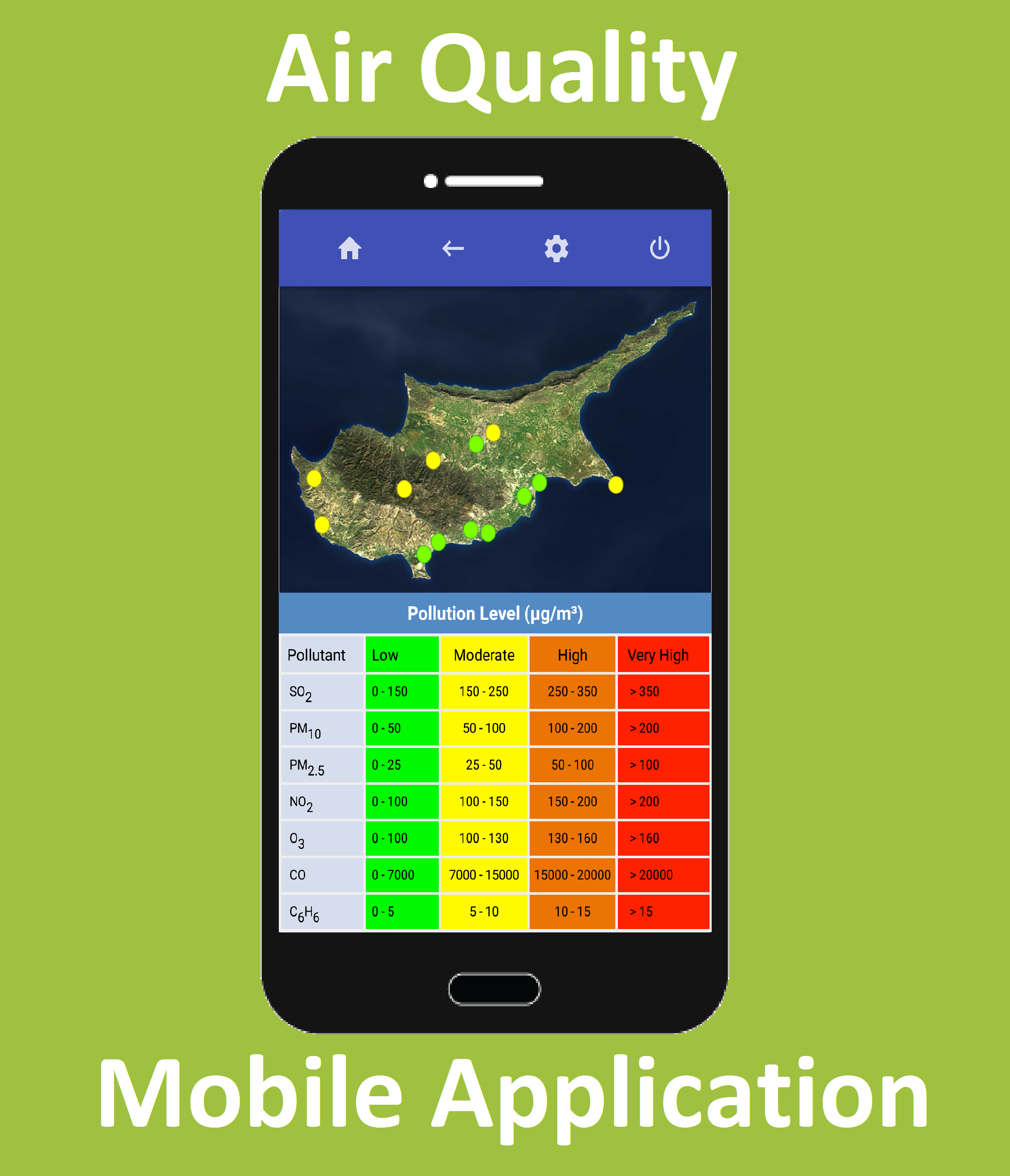 Air Quality - Mobile Application